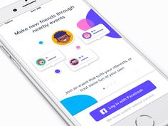 Onboarding is a crucial element of many mobile applications. It walks the user through an introduction covering both what the app is, and how it works. Mobile App Design, Mobile Ui, Application Mobile, Application Design, Bumble Bff, Onboarding App, Web Design, Design Trends, Flat Design