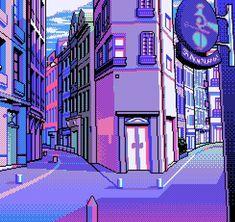 Cool Pixel Art, Cool Art, Purple Aesthetic, Aesthetic Art, Bg Design, 8 Bit Art, Vaporwave Art, Chibi, Pics Art