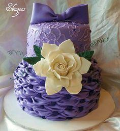 Pretty In Purple.. by Shugee's Custom Cakes & Cookies ♥, via Flickr