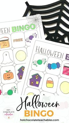"""Vocabulary Bingo best way to practice and learn Halloween vocabulary words during the month of October. The game is designed to be used with young learners and features """"cute"""" Halloween images and simple vocabulary words"""