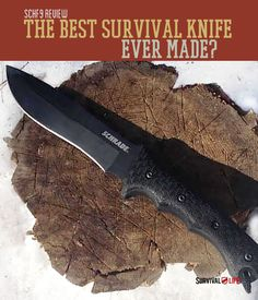The Best Survival Knife Ever Made | Schrade's SCHF9 competes with large fixed blades for a common man's price. Read more about the knife that you could depend your life on in a survival situation. survivallife.com #survivallife