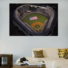 Old Yankee Stadium Aerial Mural Wall Graphic | New York Yankees Wall Decal  | Sports Décor Part 57