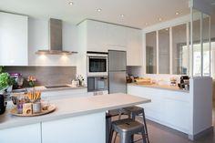 Epure et sur mesure pour une cuisine à Neuilly-sur-Seine - contemporain - Cuisine - Other Metro - Laurence Garrisson / La Décorruptible