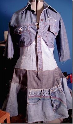 Denim Recycled Dress