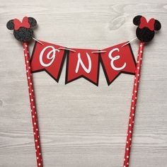 Minnie Mouse Red and Black Cake Topper Banner Cake Topper Birthday Party Decor Cake Decorations Minnie Mouse Baby Red Birthday Cake Straw by PhasesOfLove on Etsy https://www.etsy.com/listing/385208226/minnie-mouse-red-and-black-cake-topper