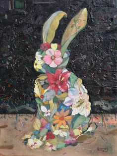 "Minas Halaj; Collage, ""Rabbit."""