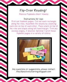 Flipbooks Short Vowe