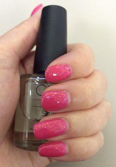 CND Shellac - Pink Bikini with Zillionaire