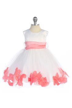infant flower girl dresses | Pink / Coral Flower Girl Dresses - Girls Dress Line