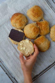 Havreboller uden gluten Nutella, Protein, Muffin, Bread, Breakfast, Food, Marmalade, Morning Coffee, Eten