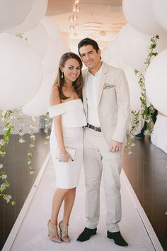 all white engagement party outfit ideas
