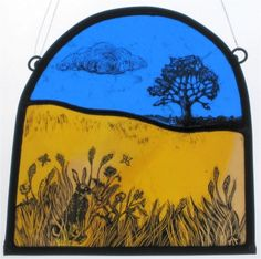 A Tamsin Abbott Piece Stained Glass Paint, Stained Glass Designs, Stained Glass Panels, Stained Glass Patterns, My Glass, Glass Art, Grisaille, Colored Glass, Fused Glass