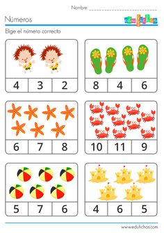 elije numero correcto Preschool Writing, Numbers Preschool, Preschool Learning Activities, Preschool Education, Learning Numbers, Math Numbers, Montessori Math, Kindergarten Math Worksheets, Math For Kids