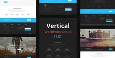 Vertical- One Page Multipurpose WordPress Theme by thematicwebs Vertical- One Page Multipurpose WordPress Theme is a corporate theme which can be used for company , portfolio , business and many