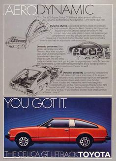 1979 Toyota Celica GT Ad. Had a black one. Went on at 90000 mi to become first car for 2 (sequentially) newly licensed drivers. Lived past 150K.