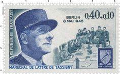 Timbre 1970 : 8 MAI 1945 MARECHAL DE LATTRE DE TASSIGNY RHIN ET DANUBE   WikiTimbres