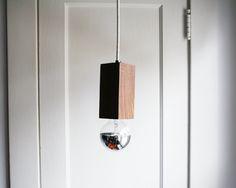 Mid Century Inspired Modern Geometric Black Walnut Pendant Light (148.00 USD) by BrooksideBungalow