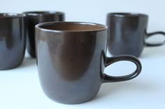 Heath Ceramics  Cups, Coupe, Brownstone, Set of 4, Mid Century Modern