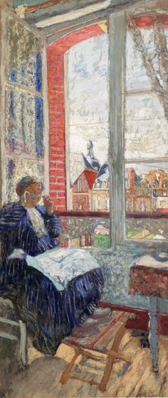 Madame Vuillard à l'Hotel des Ducs de Normandie (1913). Édouard Vuillard (French, 1868-1940). Oil on board.