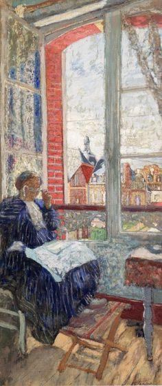 Madame Vuillard à l'Hotel des Ducs de Normandie (1913). Édouard Vuillard (French, 1868-1940). Oil on board.