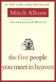 One of the best books I have read. The Five People You Meet In Heaven by Mitch Albom. it is a thought searching book, the actions we take now, in later life we think about. Up Book, This Is A Book, I Love Books, Great Books, Book Nerd, Books To Read, Amazing Books, Big Books, Music Books