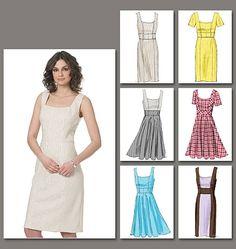 Vogue 8648 - sheath dress with straight skirt