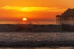 Big Surf at Sunset in Oceanside - January 25, 2014 by Rich Cruse on 500px
