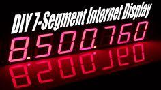 Seven Segment Display with data via web mcu ESP8266