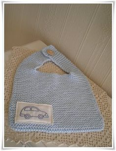 Appliqué idea too cute! Knitting For Kids, Baby Knitting Patterns, Crochet Patterns, Crochet Baby, Knit Crochet, Knitting Accessories, Homemade Gifts, Knitwear, Baby Boy