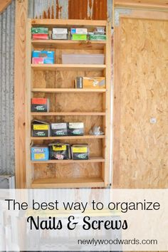 This quick and simple way to store nails and screws in the garage keeps you from forgetting what you have. Plus, it stays neat.