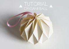 Diy Home : Illustration Description DIY Origami Ball Tutorial -Read More – Origami Ball, Instruções Origami, Origami And Kirigami, Origami Ideas, Hanging Origami, Origami Lampshade, Origami Shapes, Origami Gifts, Modular Origami