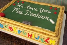 teacher appreciation - by Corrie @ CakesDecor.com - cake decorating website