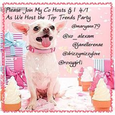 COHOSTING TOP TRENDS PARTY ON APRIL 1st Please Join me Friday, April 1st as I  Co-Host Party #3NO JOKE THEME TO BE ANNOUNCED Other