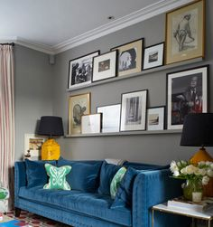 Love The Blue Sofa. A Colourful London Home   Eclectic   Living Room    London   Turner Pocock