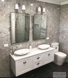 All white vanity really stands out in this new bathroom renovation @timberline.bp @brodware #thriftyplumbing #thriftybathrooms #renovations #bathroomhappiness #design #interiordesign #bathroom #bathroompictures #bathroomdesign #bathroominspo #bathroominspiration #bathroomideas #bathroomreno #brodware #timberline #designinspo #designinterior #bathroomvantiesandbasins