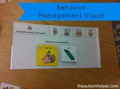 Behavior Management Visual by theautismhelper.com