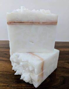 Very Vanilla Soap  All White Crystal with Copper Pencil Line