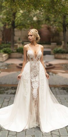 """Dancing up the Aisle"""" bridal collection is a mix of glamorous and romantic gowns, that exude luxury and comfort. We are sure you'll be amazed these bridal gowns. So, scroll below gallery to see Naama and Anat Wedding Dresses 2019 in all its beauty! Bridal Gowns, Wedding Gowns, Lace Wedding, Wedding Tips, Wedding Blog, Wedding Planning, Wedding Bride, Wedding Dresses With Straps, Bridal Collection"""