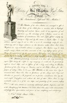 1808 DRAFT Advertisement for the Instantaneous Light and Fire Machine