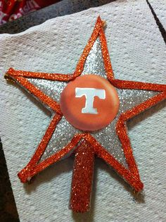 Tennessee Vols Christmas Tree Topper by Jewlsbasement on Etsy, $12.99
