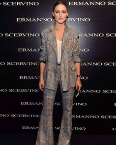 Olivia Palermo attends the Ermanno Scervino Spring/Summer 2018 show front row on September 24, 2017 in Milan, Italy