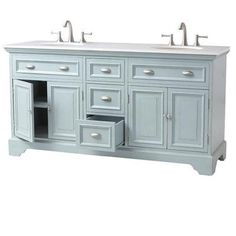 Home Decorators Collection Fremont 72 In Double Vanity In White With Granite Vanity Top In Grey