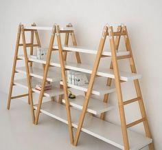Ladder shelf becomes of Furniture House Desig Market Displays, Craft Show Displays, Display Ideas, Regal Display, Home Furniture, Furniture Design, Room Deco, Diy Casa, Display Shelves
