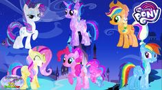 My Little Pony Transforms into Galaxy Power Mane 6 Princess Surprise Egg...