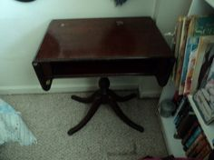 Duncan Phyfe mahogany side table by WhiskeysWhims on Etsy