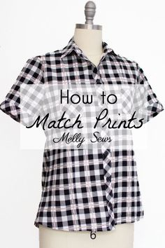How to match prints in sewing - how to match stripes, how to match plaids, and tips for florals and other prints.