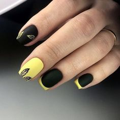 Nail Designs and Ideas 2019 Any lady who cares about how she looks thinks what manicure will best fit the chosen outfit and what types of nails are in the trend at a time. Cute Nails, Pretty Nails, Nail Manicure, Nail Polish, Nailed It, Sunflower Nails, American Nails, Almond Shape Nails, Yellow Nails