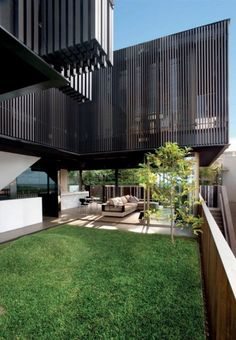 Modern Dream Homes : Freshwater House by Chenchow Little Architects Architecture Résidentielle, Australian Architecture, Amazing Architecture, Little Architects, Architects Sydney, Timber Battens, Casa Patio, Australian Beach, Villa
