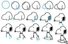 Desde que tengo uso de razón amo a Snoopy. Lo he dibujado millones de veces: encima del tejado rojo, con charlie, con peanuts… Lo he dibujado de aviador, jugando al tenis, encima del monopatí…