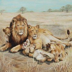 Original Painting - Animal Paintings - Framed artwork - RON ROPHAR